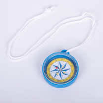 Clear Plastic Compass - 55mm