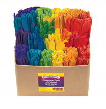 Coloured Craft Stick Class Pack - 1200 Pieces