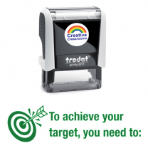 To achieve your target... Stamp