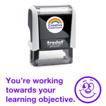 You're working towards your learning objective Stamp