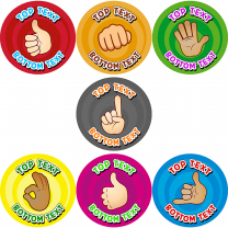 Hand Gestures Personalised Stickers