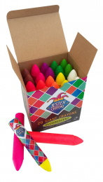 Jester Giant Fluorescent Crayons - Box of 20