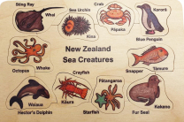 NZ Sea Creatures Wooden Puzzle
