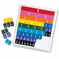 Plastic Rainbow Fraction Tiles