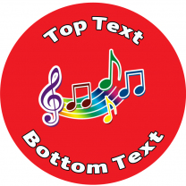 Music Personalised Stickers