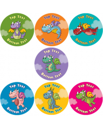 Cheeky Dragons Personalised Stickers