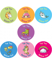 Cosmic Characters Personalised Stickers