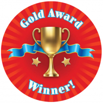 Gold Award Personalised Stickers
