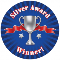 Silver Award Personalised Stickers