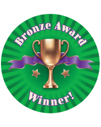 Bronze Award Personalised Stickers