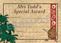 Kiwi Personalised Certificates