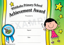 Kids (girl) Personalised Certificates