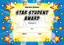 Star Burst Personalised Certificates