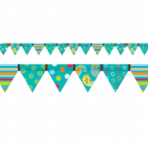 Dots on Turquoise Pennant