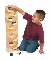 Two-Sided Wooden Racing Tower