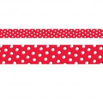 Doodle Dots on Red Trimmer