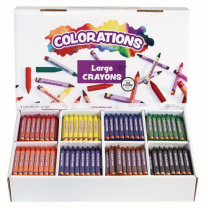 400 Large Crayons - 8 colours