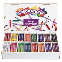 400 Large Crayons - 16 Colours
