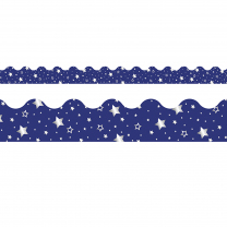 Navy with Silver Stars Trimmer