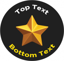 Gold Star Personalised Stickers