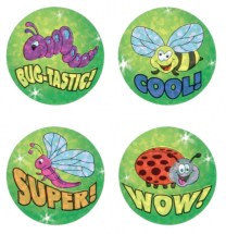 Bugs Sparkle Stickers