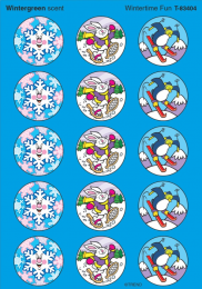 Wintertime Fun Stinky Stickers (Wintergreen)