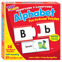 Alphabet Uppercase and Lowercase Fun-to-Know Puzzles