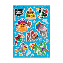 Fish Pirates and Crew Sparkle Stickers