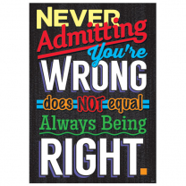 Never Admitting Poster