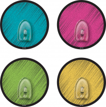 Clingy Chalkboard Brights Hooks - Pack of 4