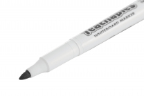 Thinline Whiteboard Markers Black - Pack of 12