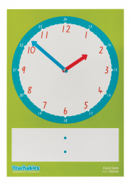 Large Magnetic Write & Wipe Clock Sheet