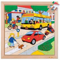 Traffic Wooden Puzzle