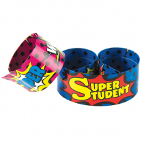 Superhero Super Student Slap Wristbands