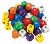 6-Sided Numbered Dice - Set of 5