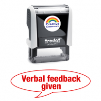 Verbal feedback given Stamp