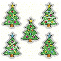 Stickers Christmas Trees