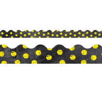 Yellow Dots on Chalkboard Trimmers