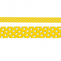 Doodle Dots on Yellow Trimmer