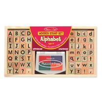 Wooden Alphabet Stamp Set