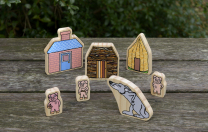 The Three Little Pigs Wooden Character Set