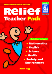 Relief Teacher Pack Book - Ages 5-7
