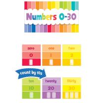 Numbers 0-30 Painted Palette Mini Bulletin Board