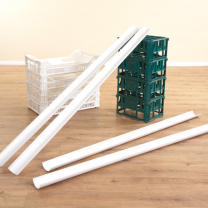 Plastic Water Channeling Guttering - Pack of 6