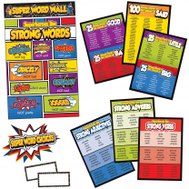 Super Power Word Choices Bulletin Board