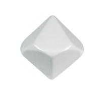 Jumbo Blank 10-sided White Dice - Set of 5