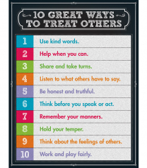 10 Great Ways to Treat Others Chart