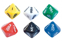 Fractions 10th Equivalence Dice - Pack of 6
