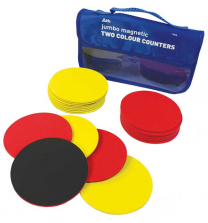 Two Colour Jumbo Magnetic Counters - Set of 20