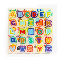 Animals and Alphabet Wooden Puzzle